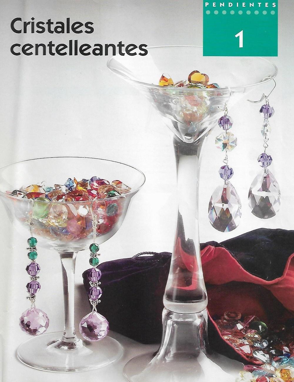 pendientes cristales,tutoriales, bisutería, manualidades
