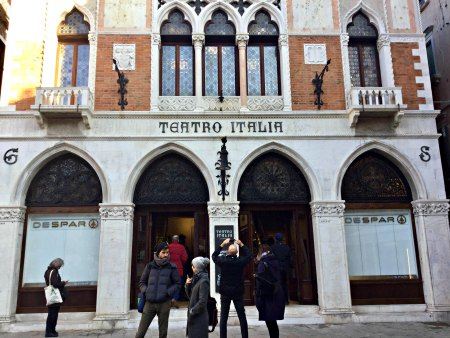 VENICE BLOG Teatro Italia in Venice PHOTO BY CAT BAUER