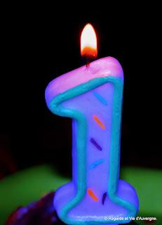 bougie d anniversaire 1 an