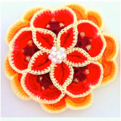 How To Crochet A Pretty Flower - Tutorial
