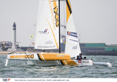 Tour Voile : IXIO remporte le stade nautique à Dunkerque.