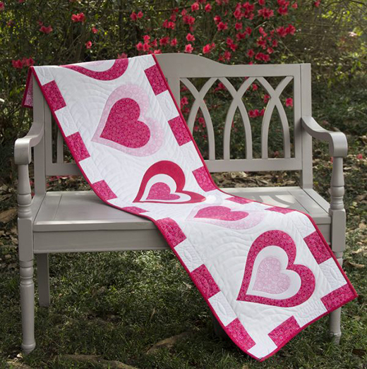 Valentine's Day Table Runner Free Pattern