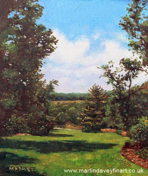 Hillier Gardens Grass and Trees-oil painting