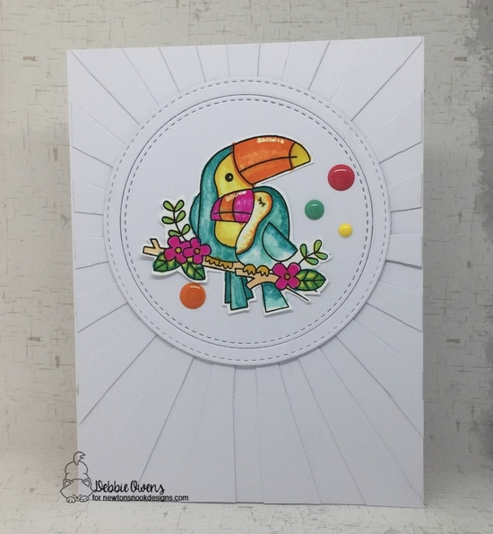 Debbie's card features Toucan Party by Newton's Nook Designs; #newtonsnook