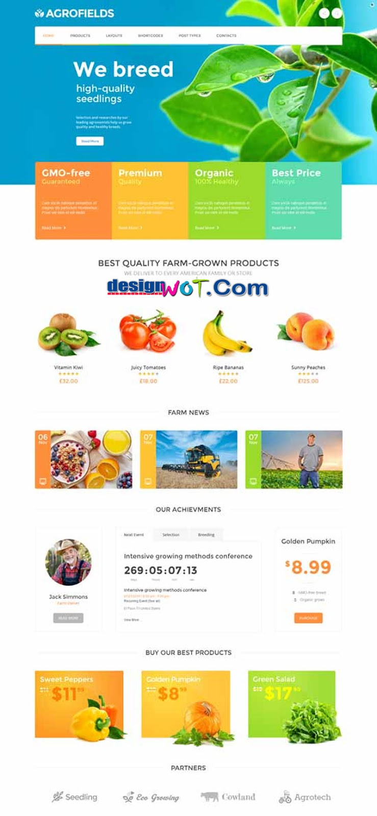 Agrofields - Food Shop and Grocery Market WP Theme