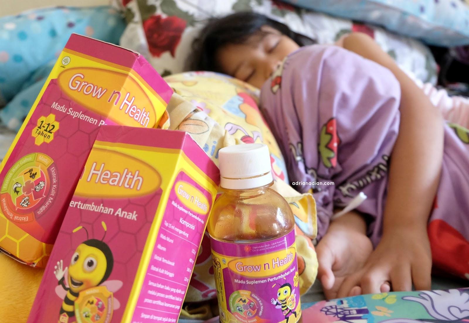 Madu Suplemen Pertumbuhan Anak Grow n Health