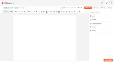 Cara Membuat Postingan Atau Artikel Baru Di Blogspot