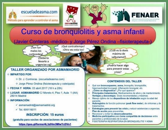 Curso de bronquiolitis y asma infantil