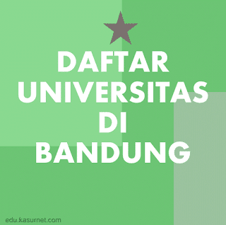 Daftar Universitas di Bandung