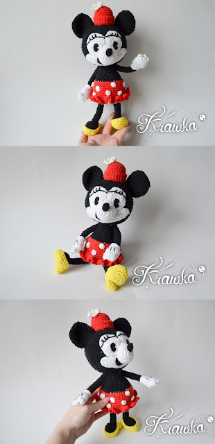 Krawka: Vintage Minnie Mouse crochet pattern by Krawka, Ortensia, Oswald Lucky rabbit, Mickey Mouse, old school disney