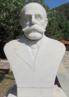 προτομή του Αναστάσιου Πηχεών στο Μουσείο Μακεδονικού Αγώνα του Μπούρινου