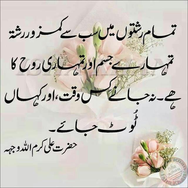 Hazrat Ali Quotes In Urdu | Jumma Mubarak