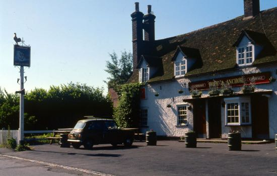The Hope and Anchor in the 1980s  Photograph by H. Baker, part of the Images of North Mymms collection