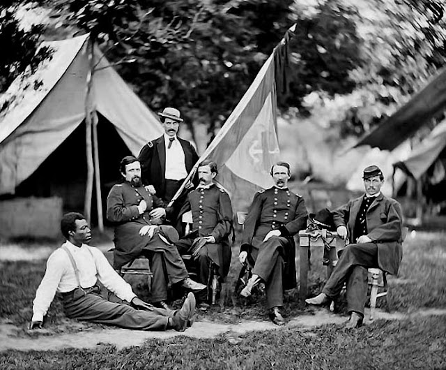 Union officers before the Battle of Shiloh Hardin County, Tennessee. Angel's Glow. marchmatron.com