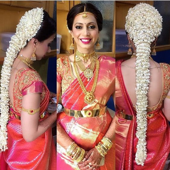 Hairstyles For Brides Mother Kerala Style: 18 Indian Wedding Hairstyles With Jasmine Flowers