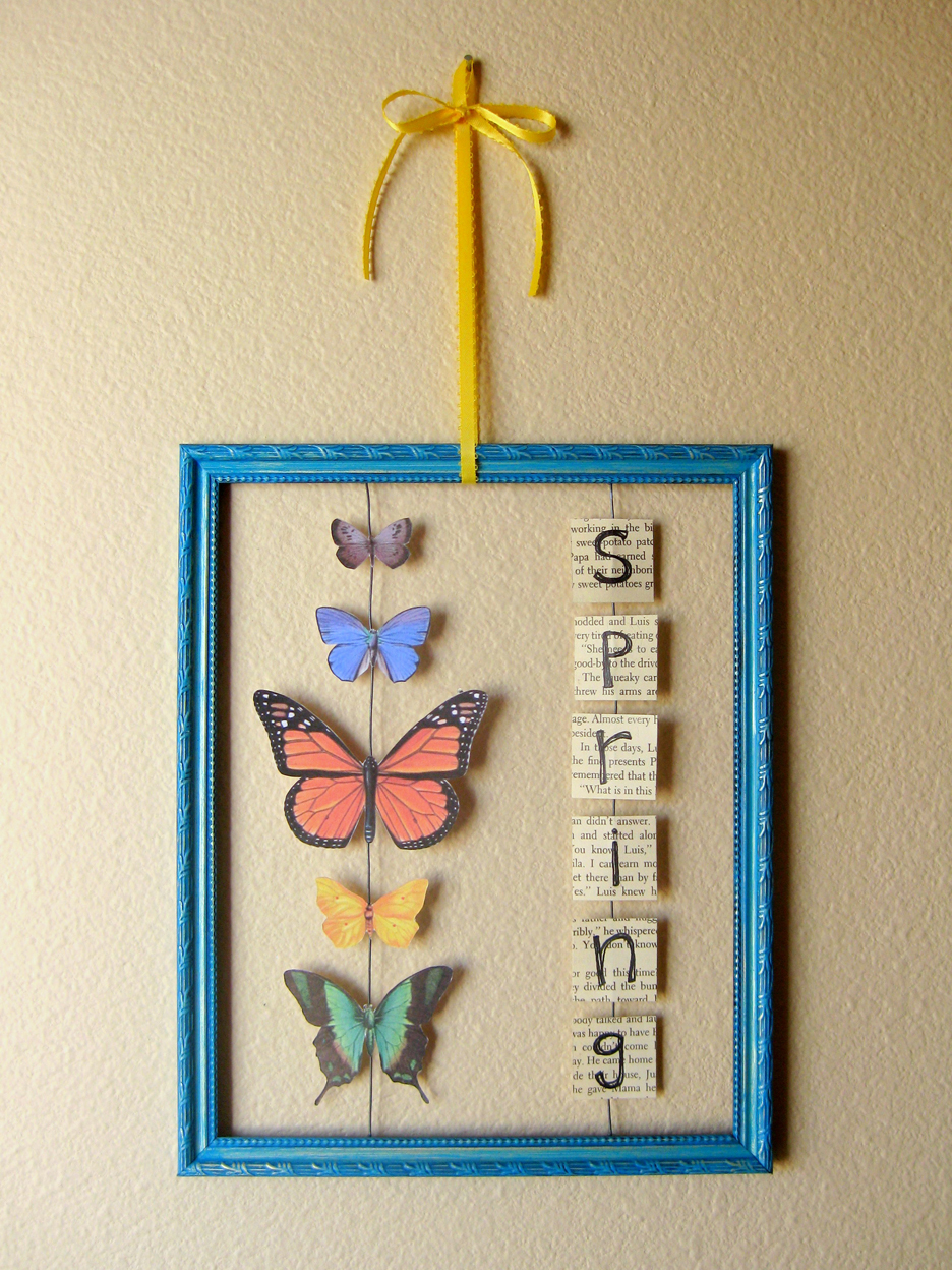Kiki Creates Butterfly Wall Hanging All About Easter