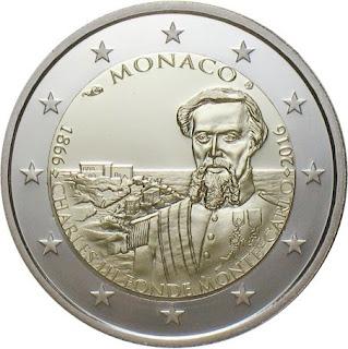 2 euro commémorative monaco 2016 - 150 ans de la Fondation de Monte Carlo par Charles III