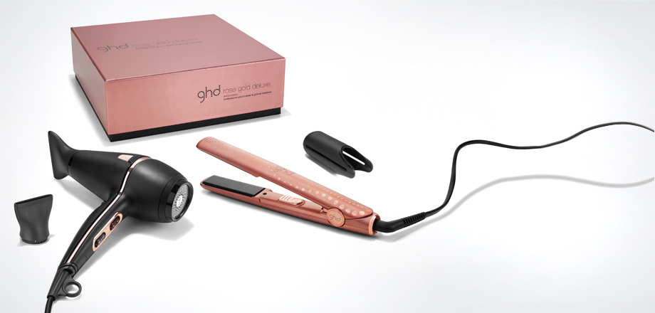 ghd Rose Gold Deluxe Set