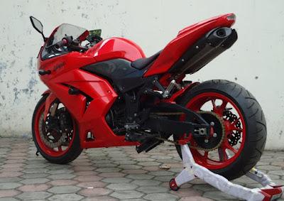 Modifikasi Motor Ninja 4 Tak Keren Abiz, Modifikasi Motor Ninja 4 Tak Keren Abis