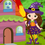 Games4King Cute Witch Escape