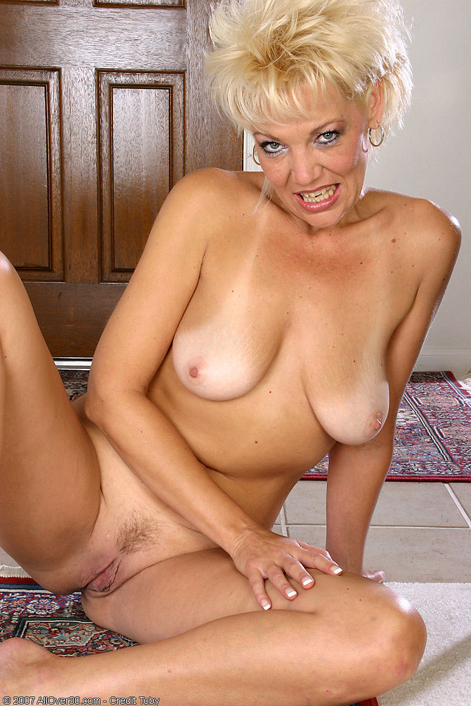 All hot blonde milf solo