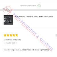Testimoni Pembelian Flashdisk Pulpen Promosi