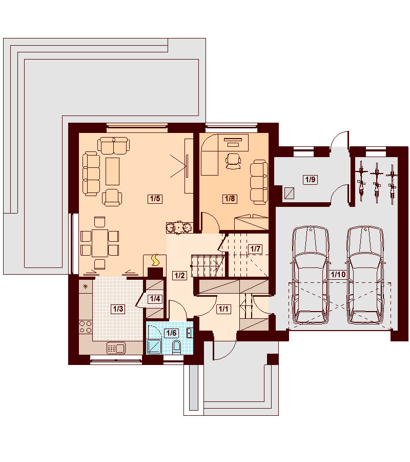 When you are creating your new house, you've got the possibility to make sure it will be the right shape around your certain life stage. There are many procedures to make the perfect home for your family, and some ideas, such as the open kitchen, a garage, a cozy terrace and more.  Find your perfect home with these three house plans and layouts for free.