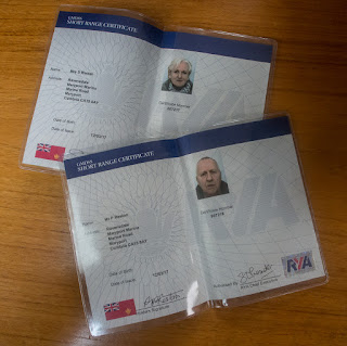 Photo of our newly-arrived radio licences