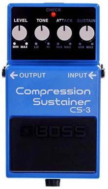 Pedal Boss CS-3 Compressor Sustainer: Controles y Características