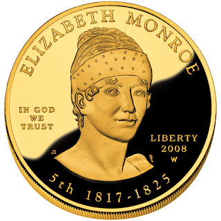US Gold Coins Elizabeth Monroe First Spouse 10 Dollars Gold Coin