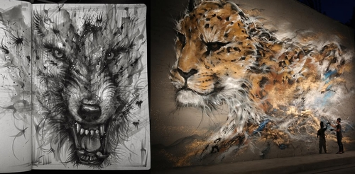 00-Hua-Tunan-Animal-Sketch-Drawings-and-Mural-Paintings-www-designstack-co