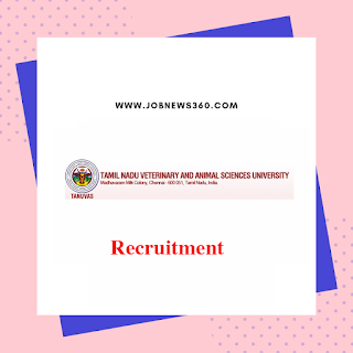 TANUVAS Villupuram Recruitment 2019 for Junior Research Fellow