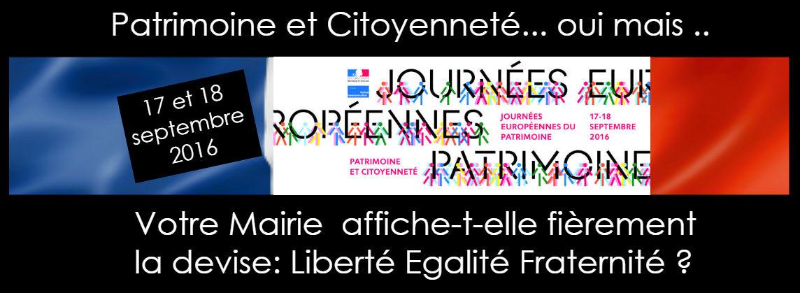 JOURNÉES EUROPÉENNES DU PATRIMOINE 17-18 SEPTEMBRE 2016