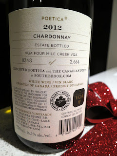 Bottle 0348 of 2,664 of Southbrook Poetica Chardonnay 2012