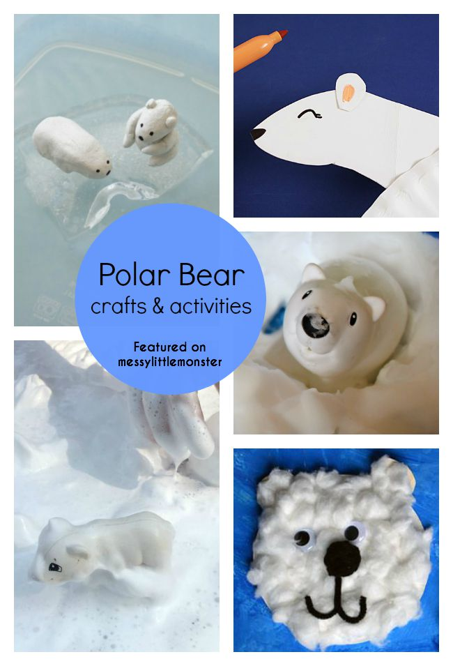 Polar bear themed art craft and activity ideas for kids