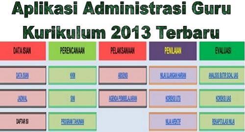 Aplikasi Administrasi Guru Kurikulum 2013 Terbaru