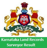 Karnataka Land Records Surveyor Result