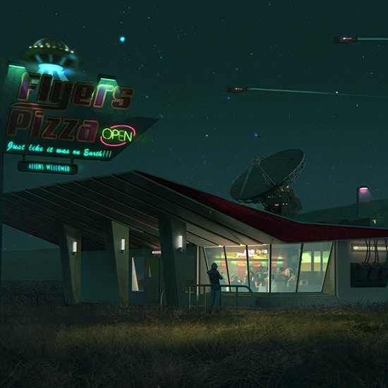 Flyers Pizza - A Retro Diner Wallpaper Engine