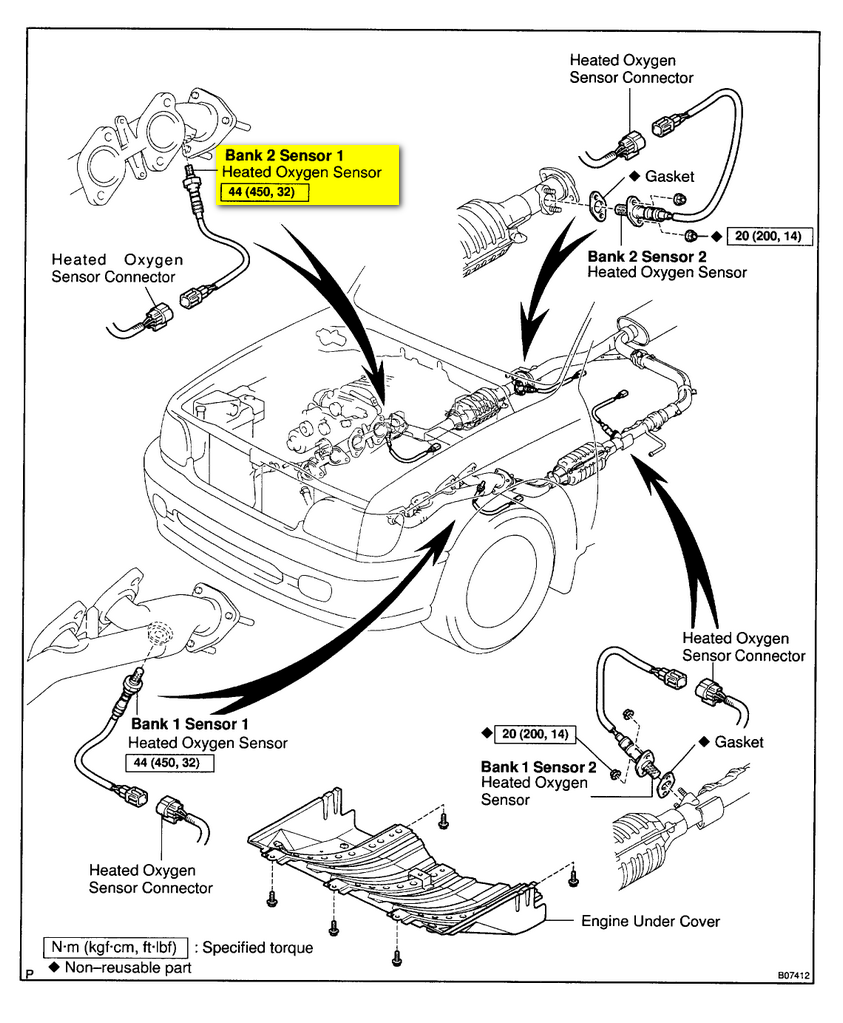 Diagram Also Toyota O2 Sensor Location On 2001 Toyota Tundra Engine