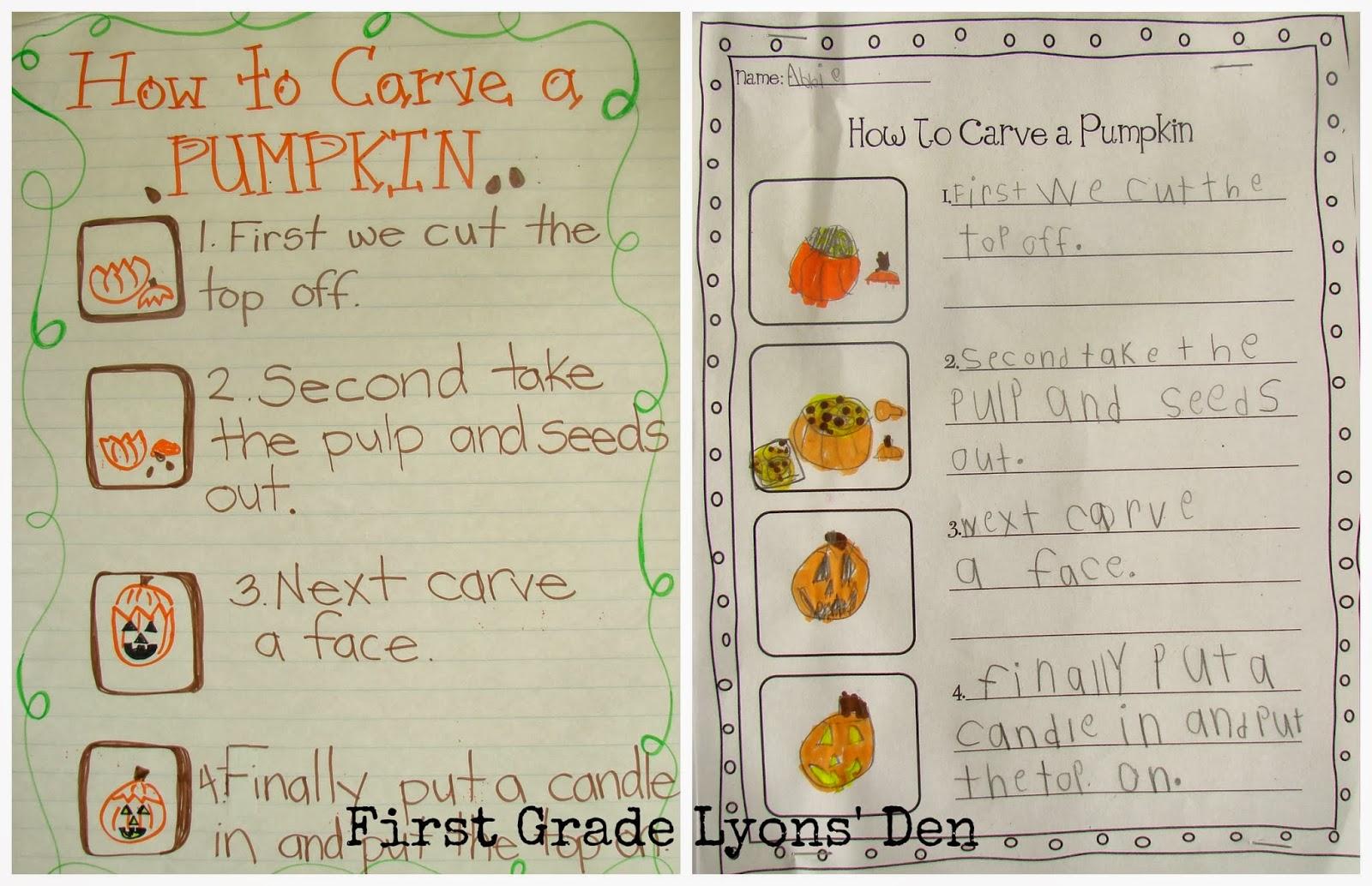 First Grade Lyons' Den: How to Carve A Pumpkin ...