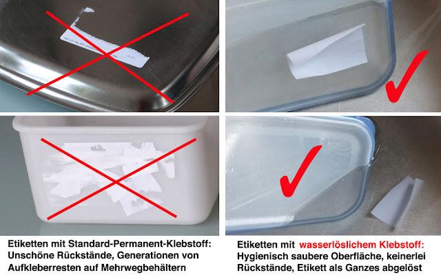 eine saubere Lösung durch wasserlöslichen Klebstoff