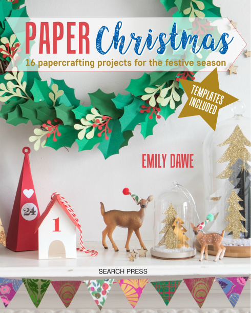 Papercraft book cover, Paper Christmas