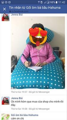 Gối ôm chữ u tựa lưng đọc sách cho bà bầu
