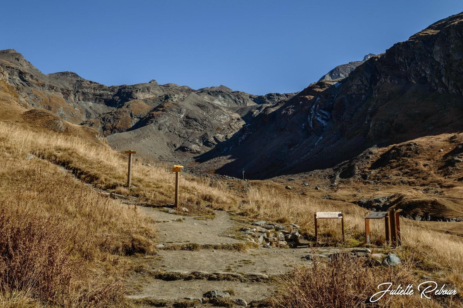 Sentiers de randonnée vers le col de la Galise, Parc National de la Vanoise