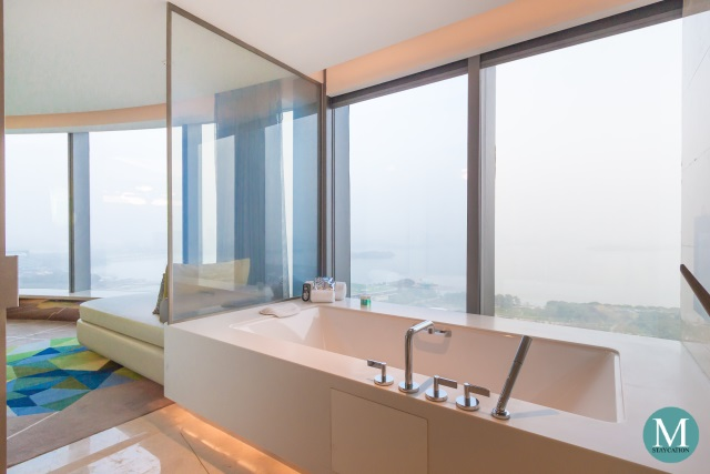 bathtub of the Fantastic Suite at W Hotel Suzhou China