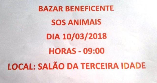 Vem aí o 2º Bazar Beneficiente do S.O.S Animais