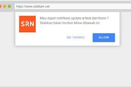 Cara Mamasang Browser Push Notifications Keren di Blogger