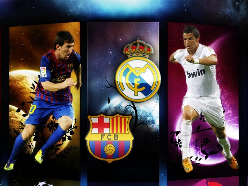 Wallpaper De Messi Vs Cronaldo Wallpaper
