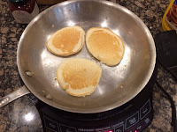 Pancakes on NuWave and Stainless Steel