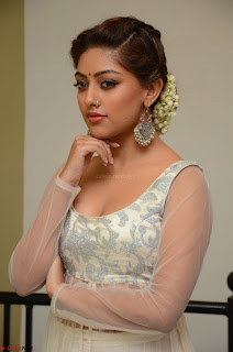 Anu Emmanuel in a Transparent White Choli Cream Ghagra Stunning Pics 101.JPG